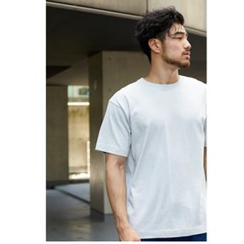 【AZUL by moussy:トップス】【MEN'S】空紡天竺Cネック半袖TEE