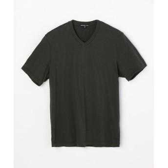 トゥモローランド リュクス ジャージーVネックTシャツ MELJ3248 メンズ 59ダークグリーン 2(L) 【TOMORROWLAND】