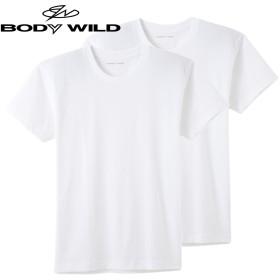 GUNZE グンゼ BODY WILD(ボディワイルド) クルーネックTシャツ 2枚組(メンズ)【SALE】 ブラック M