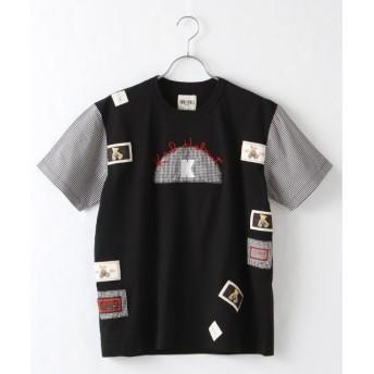 PINK HOUSE / ピンクハウス Kロゴアップリケ付きTシャツ