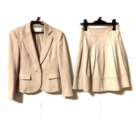 【中古】 ナチュラルビューティー NATURAL BEAUTY スカートスーツ レディース ベージュ
