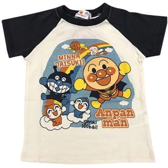 アンパンマン 空でわーい柄半袖Tシャツ(グレー×95cm)
