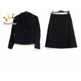 ニューヨーカー NEW YORKER スカートスーツ サイズ7 S レディース 美品 黒×グレー    値下げ 20191005