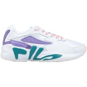 《期間限定 セール開催中》FILA レディース スニーカー&テニスシューズ(ローカット) ホワイト 6 革 / 紡績繊維 Mindblower wmn