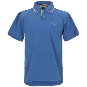 《期間限定セール開催中!》PROJECT E メンズ ポロシャツ ブルー S コットン 100%