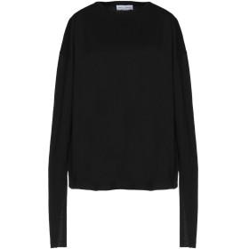 《期間限定セール開催中!》WEILI ZHENG レディース T シャツ ブラック XS コットン 100%