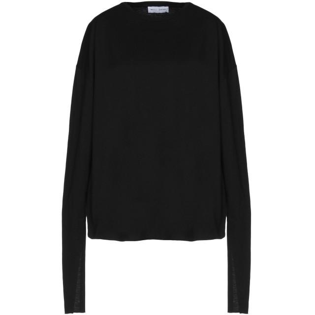 《セール開催中》WEILI ZHENG レディース T シャツ ブラック XS コットン 100%