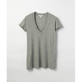 トゥモローランド ベーシック VネックTシャツ WHM3930 レディース グレー 0(S) 【TOMORROWLAND】