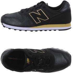 《セール開催中》NEW BALANCE レディース スニーカー&テニスシューズ(ローカット) ブラック 6 革 / 紡績繊維