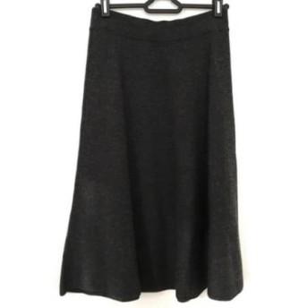 【中古】 ギャラリービスコンティ ロングスカート サイズ2 M レディース ダークグレー ニット