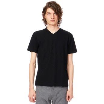 【オンワード】 CK CALVIN KLEIN MEN(CK カルバン・クライン メン) 【定番人気】アメリカンキルティング Tシャツ ブラック M メンズ 【送料無料】