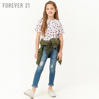 FOREVER21 フォーエバー21 【[KIDS]ローズプリントTシャツ】(5,000円以上購入で送料無料)