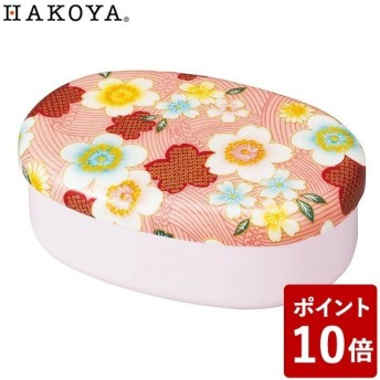 HAKOYA 布貼らんち 布貼小判一段弁当 加賀桜 ピンク 52912 たつみや