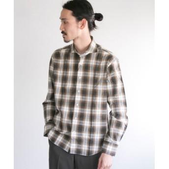 アーバンリサーチ URBAN RESEARCH Tailor スペックタータンチェックシャツ メンズ BROWN S 【URBAN RESEARCH】