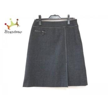 ニジュウサンク 23区 スカート サイズ38 M レディース ダークグレー×黒 スペシャル特価 20190802