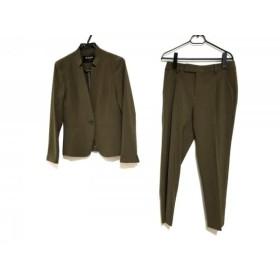 【中古】 ミッシェルクラン MICHELKLEIN レディースパンツスーツ サイズ38 M レディース 美品 カーキ