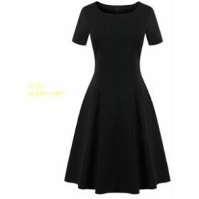 夏 2019 新女性 装飾細身ヘップバーンスタイル小さな黒ロングフォーマルイベント黒ドレス