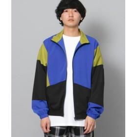 【57%OFF】 センスオブプレイス ブロックドトラックジャケット メンズ BLUE M 【SENSE OF PLACE】 【セール開催中】