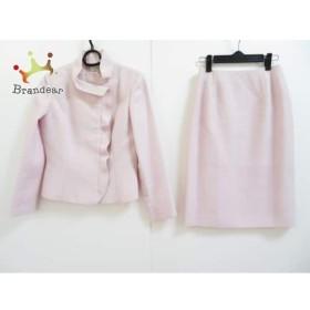 エムズグレイシー M'S GRACY スカートスーツ サイズ38 M レディース 美品 ピンク×白 ラメ  値下げ 20190607