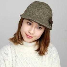 ダックス キャップ リボン レディース 秋冬 DAKS 帽子 日本製 チューリップ ハット UVカット シン