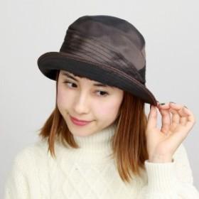 レディース ハット 帽子 春夏 UVカット帽子 セーラーハット 光沢 機能性 UV加工 レディースファ