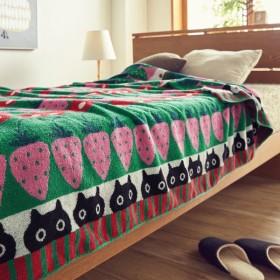 タオルケット ケット 綿100%のジャカード織タオルケット カラー 「グリーン」