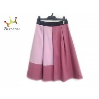 エムズグレイシー M'S GRACY ロングスカート サイズ38 M レディース ピンク×ライトピンク×黒 スペシャル特価 20190623
