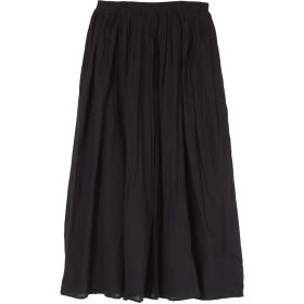 ユアーズ ur's コットンボイルボリュームスカート (ブラック)