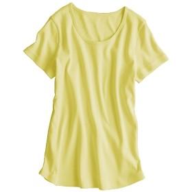 UVカット綿100%フライス素材クルーネック半袖Tシャツ (Tシャツ・カットソー)(レディース)T-shirts
