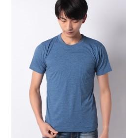 スペンディーズストア 丸首半袖何枚あっても便利!ポケットTシャツ メンズ 杢ブルー M 【SPENDY'S Store】