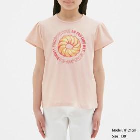 (GU)GIRLSTシャツ(半袖)Mister Donut2 PINK 120