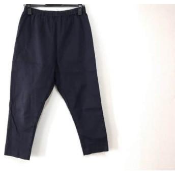【中古】 ミズイロインド mizuiro ind パンツ サイズ1 S レディース ダークネイビー ウエストゴム
