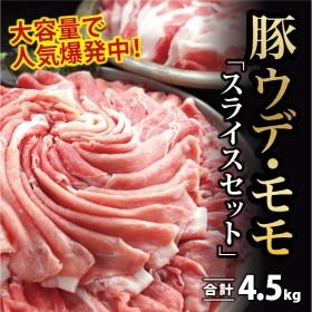 【10月配送分】豚ウデ肉・豚モモ肉スライスセット4.5㎏(都農町加工品)
