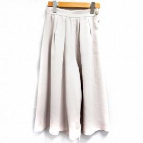 プロポーション ボディドレッシング PROPORTION BODY DRESSING パンツ ガウチョ クロップド シフォン ビジュー 1 ピンク