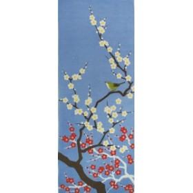 四季彩布 てぬぐい 「梅と鶯」