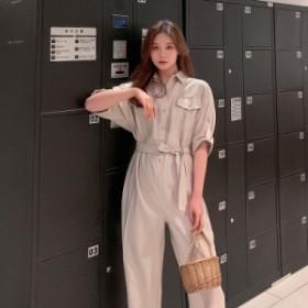 2019   レディース    連体ズボン    ワイドパンツ    九分丈    トレンド    シンプル   カジュアル   韓国ファッション   人気   気質