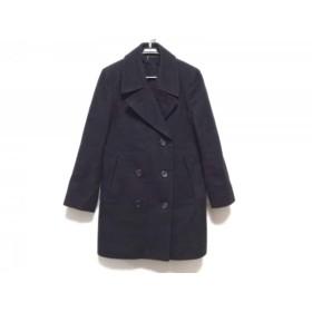 【中古】 マーガレットハウエル MargaretHowell コート サイズ2 M レディース 黒 冬物/FOX BROTHERS