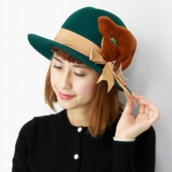 ハット レディース 猫 帽子 もこもこ 秋冬 バラ色の帽子 ファー アニマルモチーフ Barairo no Boushi
