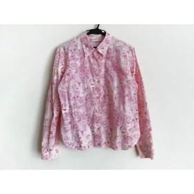 【中古】 アニエスベー agnes b 長袖シャツブラウス サイズ3 L レディース ピンク アイボリー 花柄