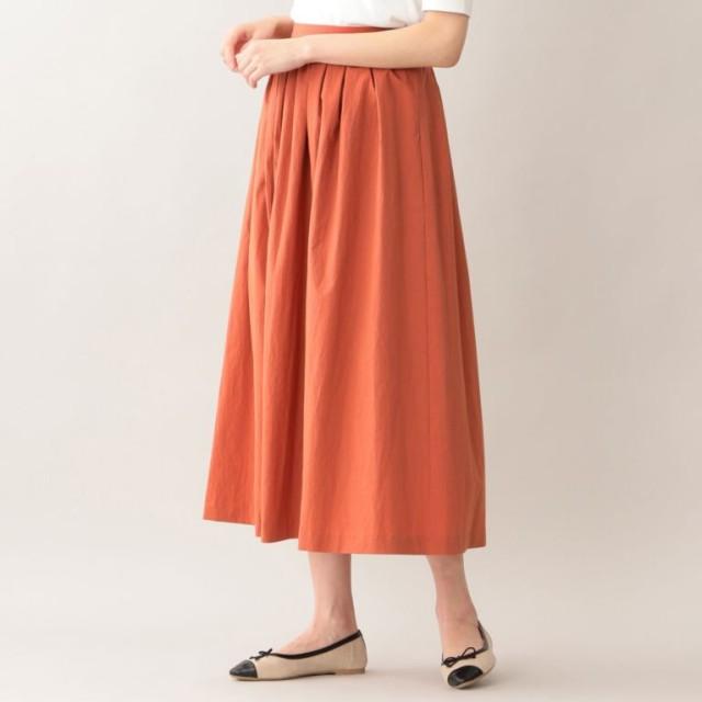 SALE【エムピー ストア(MP STORE)】 タイプライターロングスカート オレンジ