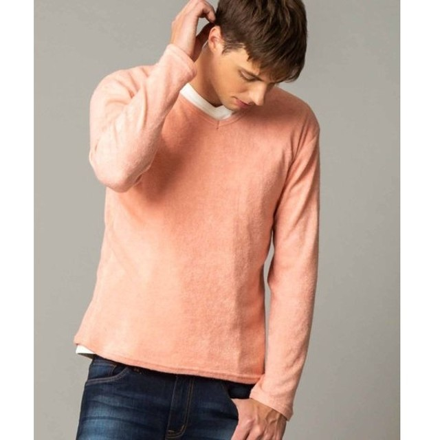 [マルイ]【セール】ライトシャギーニットソー / VネックTシャツ(長袖)/ロンドンデニム(メンズ)(LONDONDENIM)