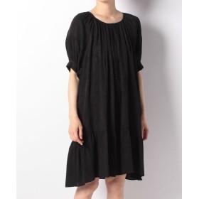 【53%OFF】 アナスイ ISLAND LEAVES SATIN & RAYON JACQUARDS ドレス レディース クロ SS 【ANNA SUI】 【セール開催中】