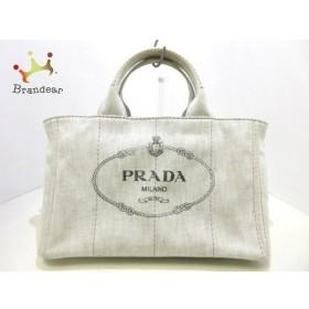 プラダ PRADA トートバッグ CANAPA B2642B ライトグレー デニム  値下げ 20190418