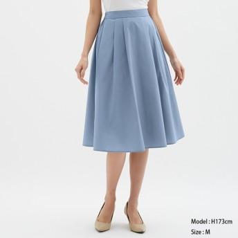 (GU)カラーフレアスカート BLUE M