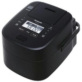 パナソニック Panasonic スチーム&可変圧力IHジャー炊飯器 5.5合炊き Wおどり炊き SR-VSX108-K (SRVSX108K) ブラック JAN:4549980009970 -人気商品-