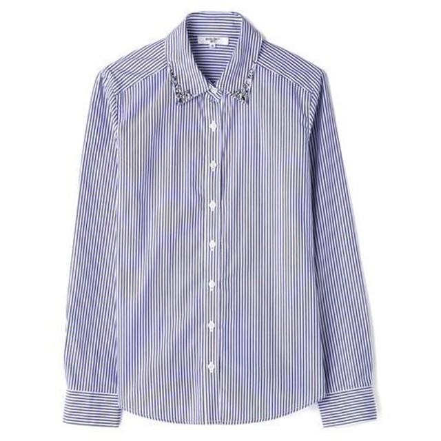 NATURAL BEAUTY BASIC / ナチュラルビューティーベーシック ビジュー付きシャツ