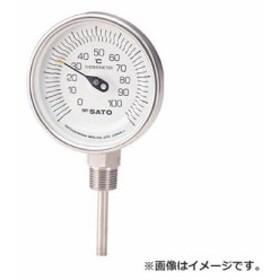 佐藤 バイメタル温度計BMーS型 BMS90S3 [r20][s9-910]