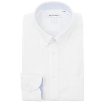 【THE SUIT COMPANY:トップス】【NON IRON STRETCH】ボタンダウンカラードレスシャツ 織柄 〔EC・FIT〕