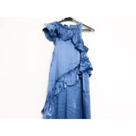 【中古】 トーマスワイルド THOMAS WYLDE ドレス サイズM レディース 美品 ブルー アシンメトリー