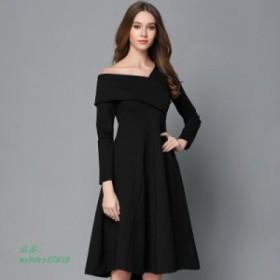 春 2019 新しい女性 服ヘップバーンリトルブラックドレスストラップレスドレスオーバーザ膝黒 ドレス夏ドレス